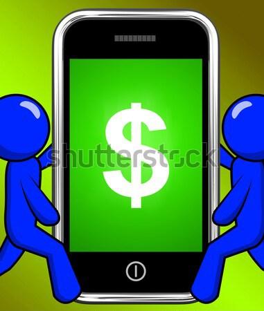 Dollar Symbol Monitor Währung Stock foto © stuartmiles