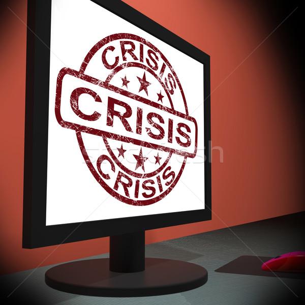 Crisis monitor urgentie moeite kritisch situatie Stockfoto © stuartmiles