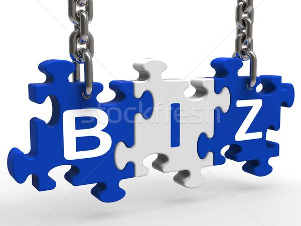 Biz Puzzle Shows Company Or Corporate Business Stock photo © stuartmiles