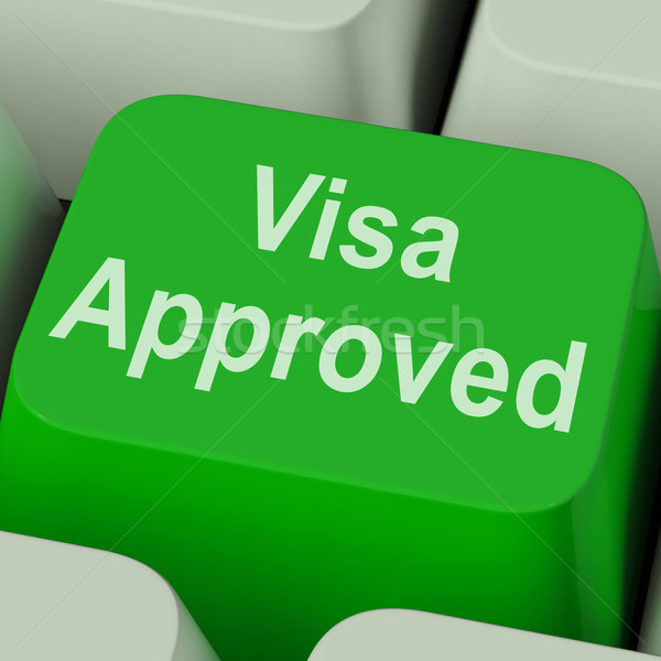 Visa Approved Key Shows Country Admission Authorized Stock photo © stuartmiles