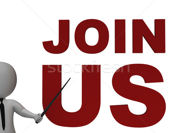 Stock photo: Join Us Sign Showing Register Or Subscribe