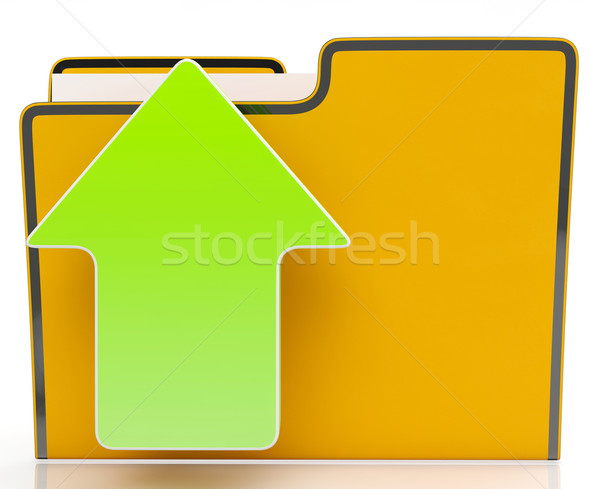 Flecha archivo red web Foto stock © stuartmiles