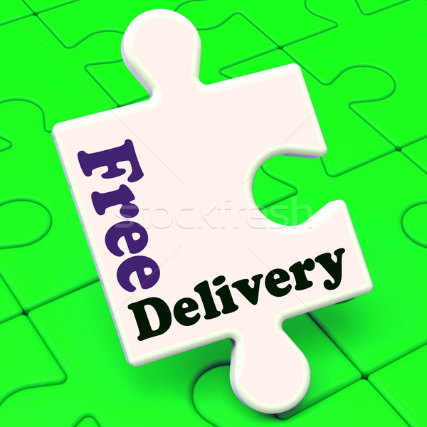Free Delivery Puzzle Shows No Charge Or Gratis To Deliver Stock photo © stuartmiles