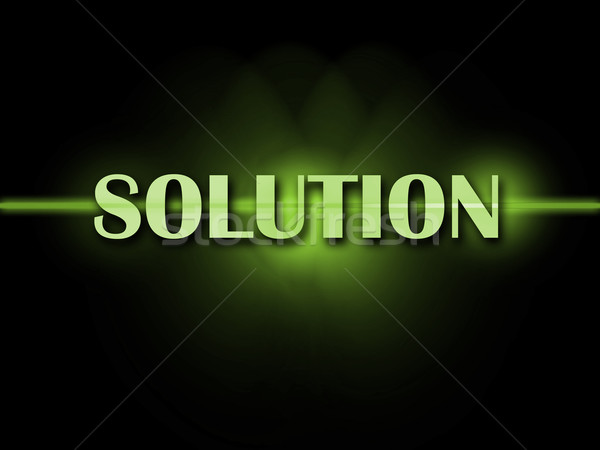 Solution Word Shows Resolve Resolution Solving And Solved Stock photo © stuartmiles