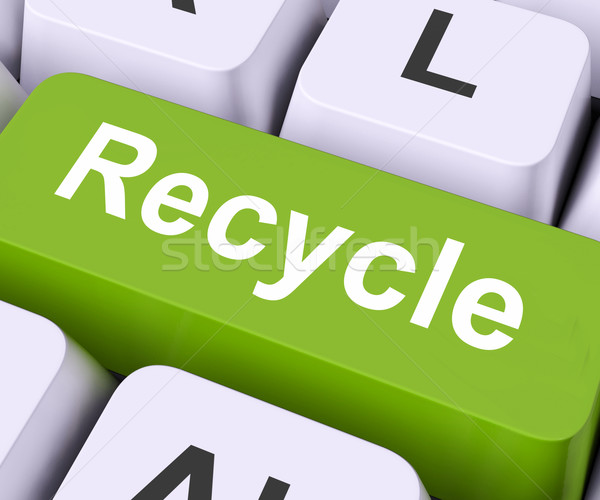 Recycle Key Means Reuse Or Salvage Stock photo © stuartmiles