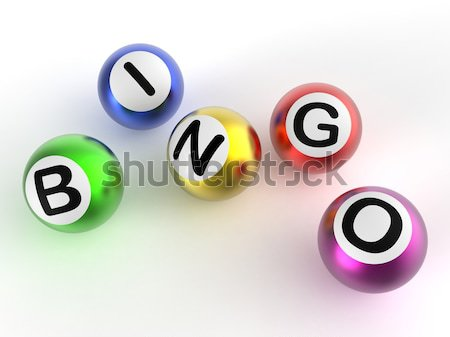 Bingo loterie jeu Photo stock © stuartmiles