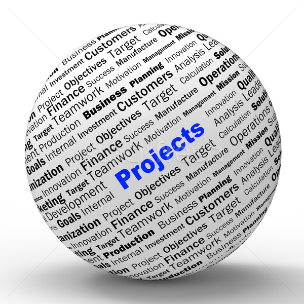 Projects Sphere Definition Means Programming Activities Or Enter Stock photo © stuartmiles