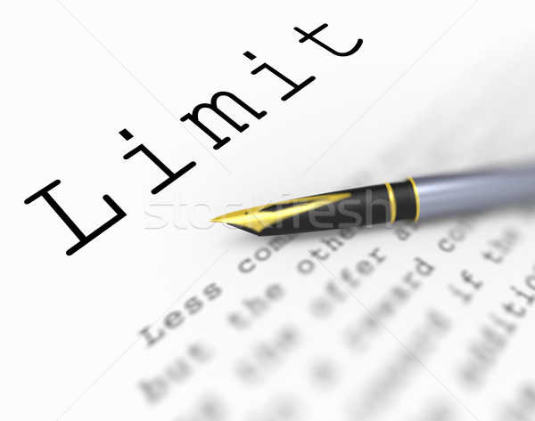 Limit Word Shows Confines Boundary Or Extent Stock photo © stuartmiles
