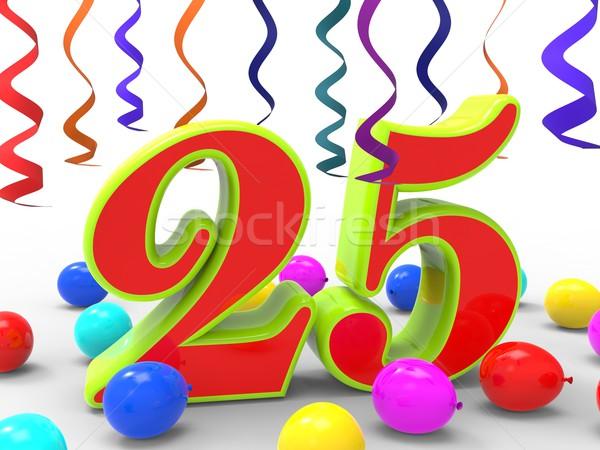 Número vinte cinco festa criatividade colorido Foto stock © stuartmiles