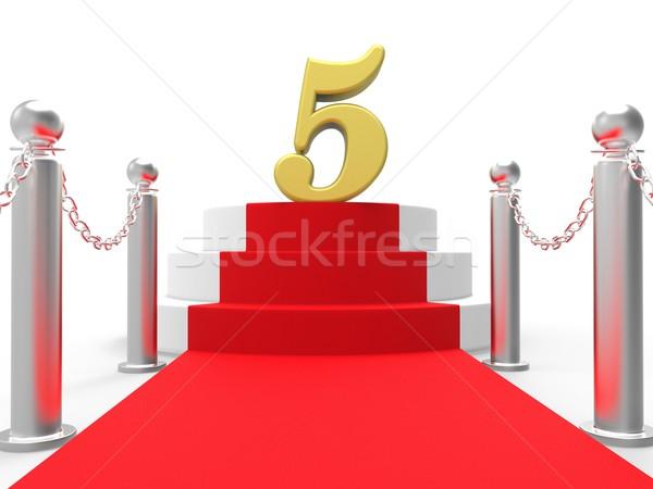 Cinque tappeto rosso film industria Foto d'archivio © stuartmiles