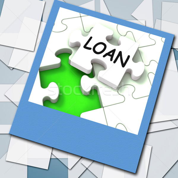 Loan Photo Shows Online Financing And Lending Stock photo © stuartmiles