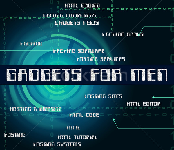 Gadgets For Men Represents Mod Con And Gismo Stock photo © stuartmiles