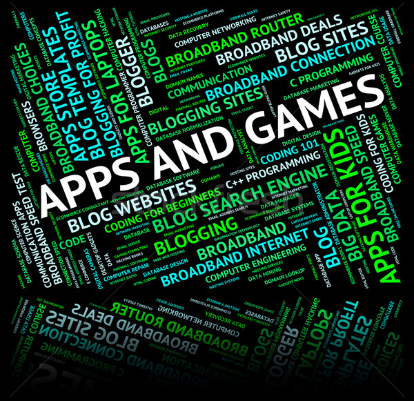 Apps And Games Represents Play Time And Application Stock photo © stuartmiles