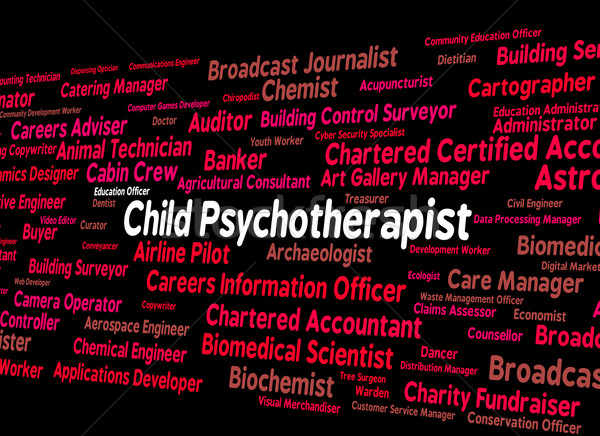 Child Psychotherapist Represents Personality Disorder And Child' Stock photo © stuartmiles