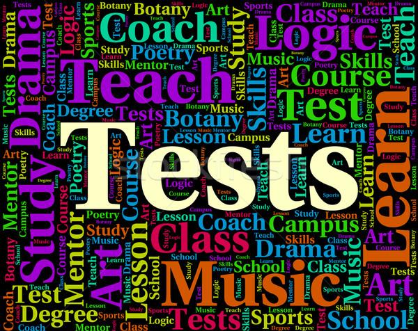 Słowo ocena słowa znaczenie egzamin tekst Zdjęcia stock © stuartmiles