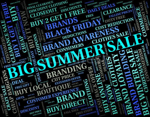 Grande verano venta enorme ventas ganga Foto stock © stuartmiles