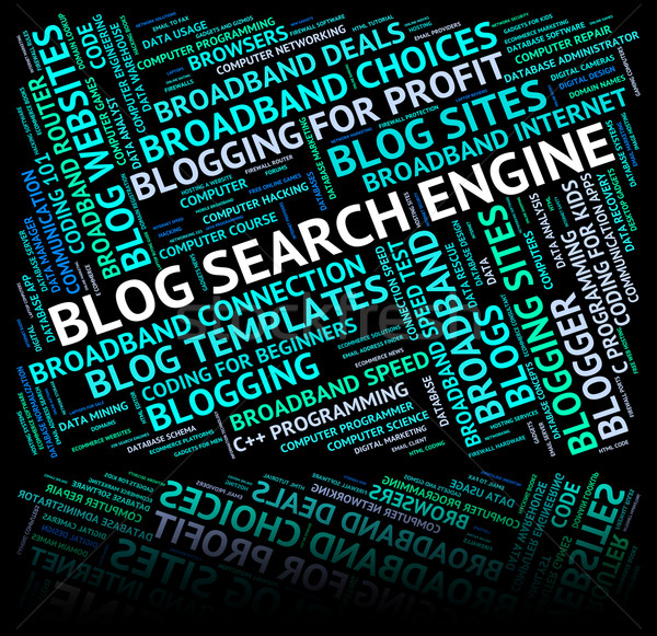 Blog Search Engine Means Gathering Data And Analyse Stock photo © stuartmiles