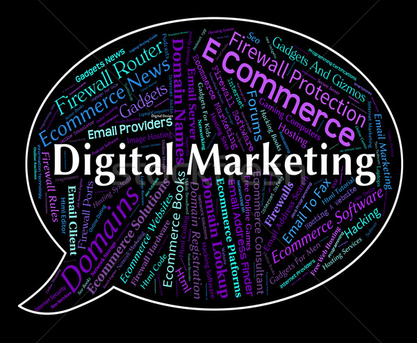 Digital Marketing Means Computer Sales And Promotions Stock photo © stuartmiles