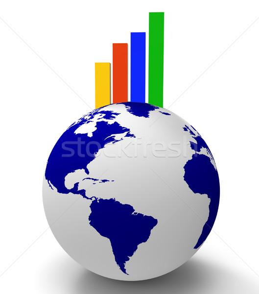 Graphique partout dans le monde grandir monde Photo stock © stuartmiles