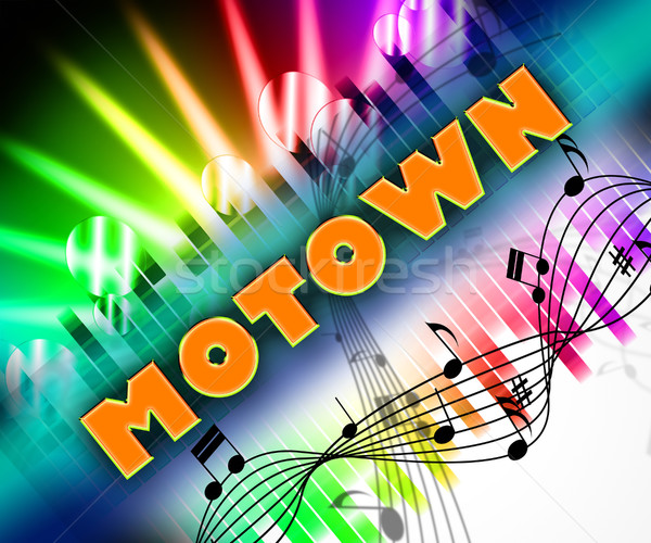 Motown Music Means Sound Tracks And Harmony Stock photo © stuartmiles