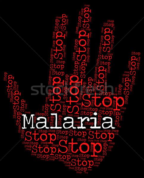 Stop Malaria Represents Warning Sign And Disease Stock photo © stuartmiles