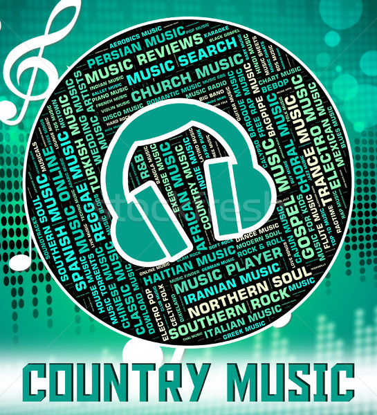 Country Music Shows Sound Track And Audio Stock photo © stuartmiles