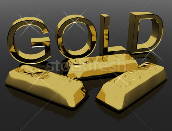 Gold Letters And Bars As Symbol For Wealth Or Riches Stock photo © stuartmiles