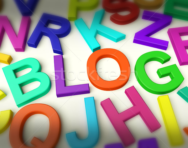 Lettres orthographe blog symbole blogging Photo stock © stuartmiles