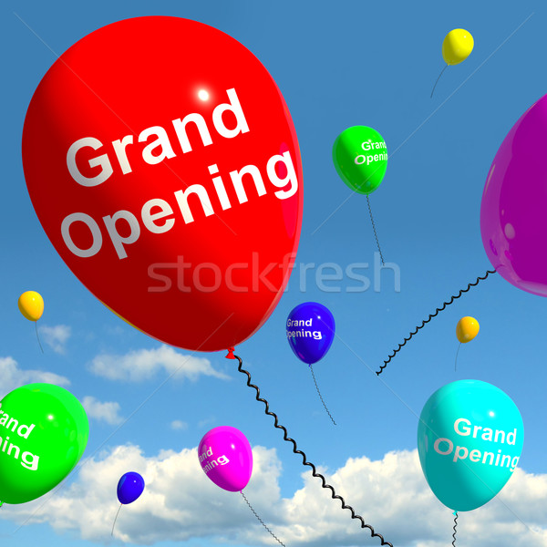 Grand Opening Balloons Showing New Store Launch  Stock photo © stuartmiles