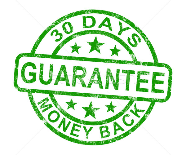 30 geld Maakt een reservekopie garanderen stempel Stockfoto © stuartmiles