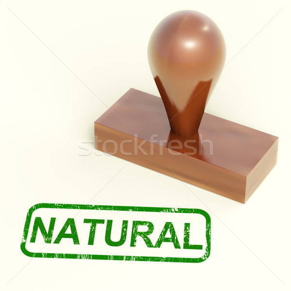 Natural Rubber Stamp Shows Organic And Pure Produce Stock photo © stuartmiles