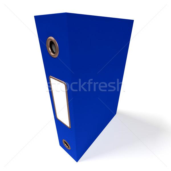 Blauw bestand kantoor georganiseerd beter Stockfoto © stuartmiles