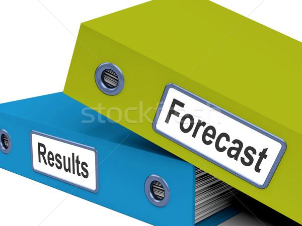 Pronóstico resultados archivos mostrar progreso objetivos Foto stock © stuartmiles