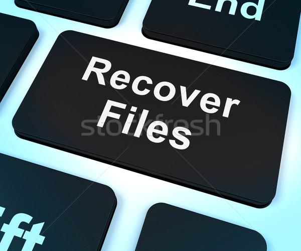 Bestanden sleutel backup tonen gegevens opslag Stockfoto © stuartmiles