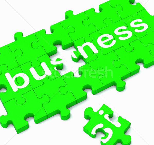 Business Puzzle Showing Commercial Transactions  Stock photo © stuartmiles