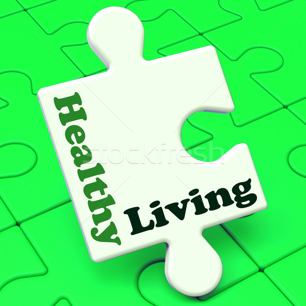 Healthy Living Shows Fitness And Nutrition Lifestyle Stock photo © stuartmiles