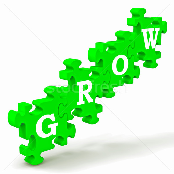 Grow Puzzle Shows Maturity And Growth Stock photo © stuartmiles