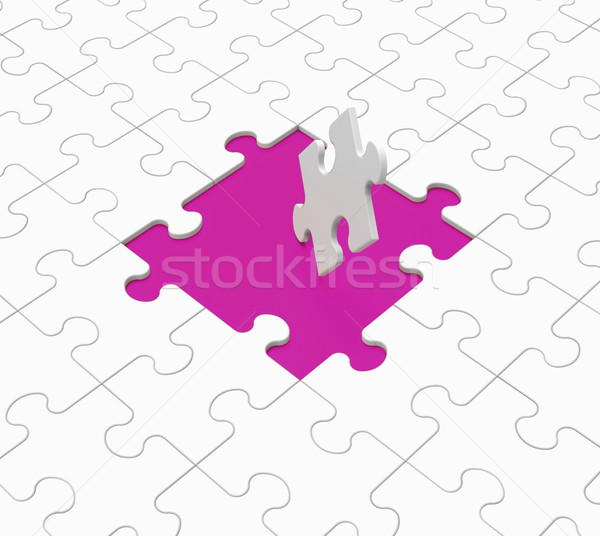 Missing Puzzle Pieces Shows Unsolved Issues Stock photo © stuartmiles