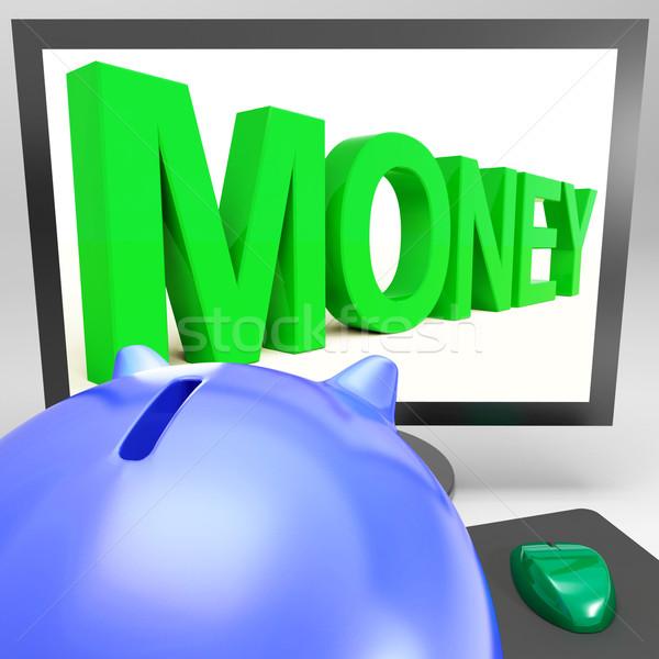Money On Monitor Showing Prosperity Stock photo © stuartmiles