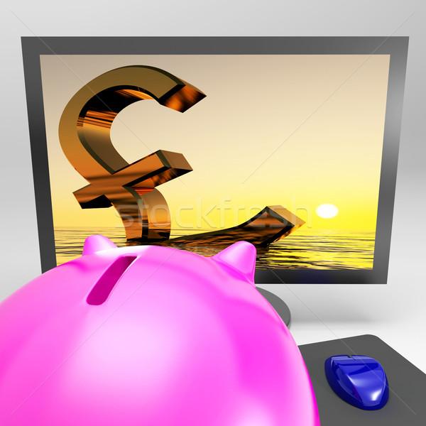 Funt brytyjski gospodarki kryzys Zdjęcia stock © stuartmiles