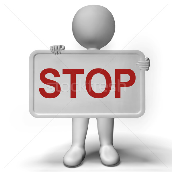 Stop Sign Shows Denial Panic And Negativity Stock photo © stuartmiles