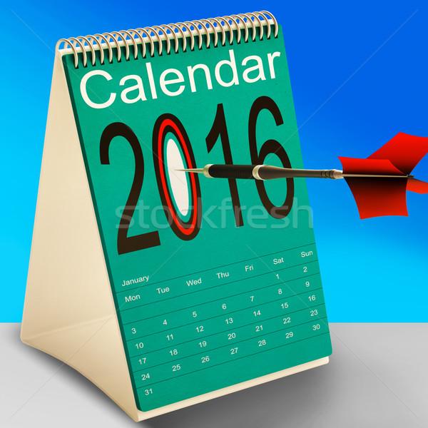 2016 schema kalender toekomst business betekenis Stockfoto © stuartmiles