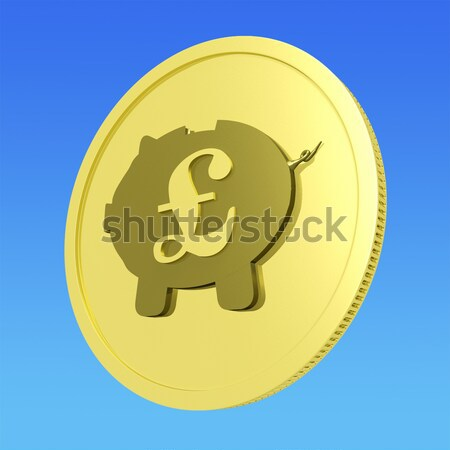 Pound Piggy Coin Shows Britain Currency Stock photo © stuartmiles