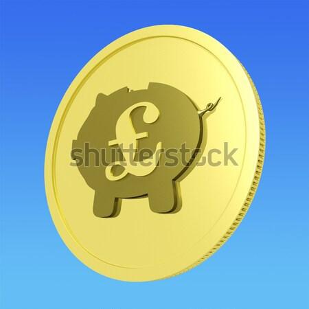 Font malac érme Nagy-Britannia valuta gazdaság Stock fotó © stuartmiles