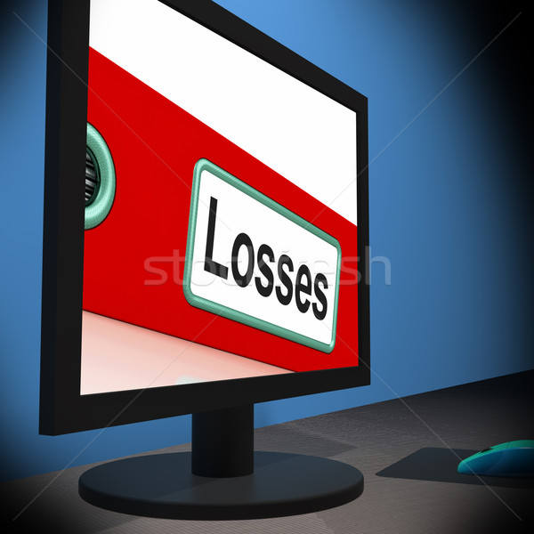 Losses On Monitor Shows Financial Crisis Stock photo © stuartmiles