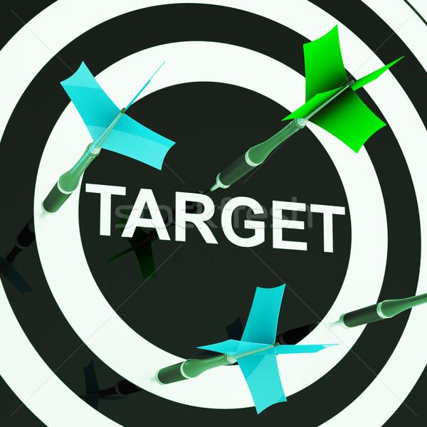 Cel wydajny strzelanie wydajność strategii Zdjęcia stock © stuartmiles