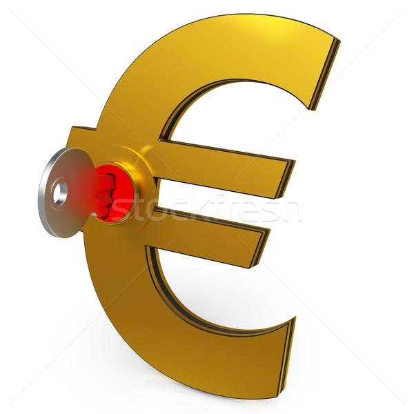 Сток-фото: евро · ключевые · экономия · Финансы · банковской