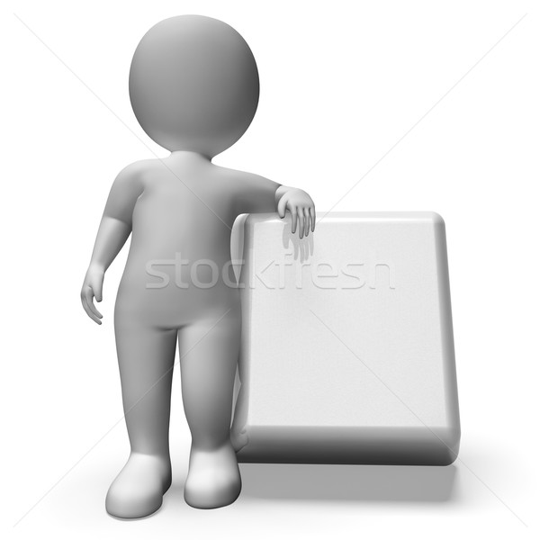 Pushing Blank Button Shows Start Stock photo © stuartmiles
