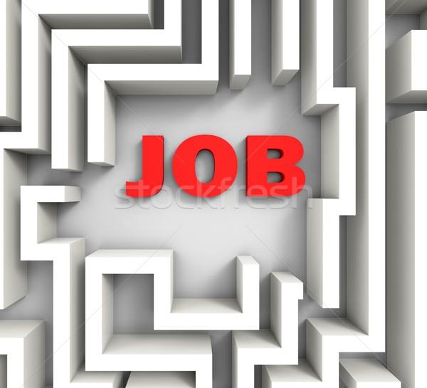 Job In Maze Shows Finding Jobs Stock photo © stuartmiles
