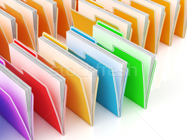 Folders Showing Organizing And Data Stock photo © stuartmiles